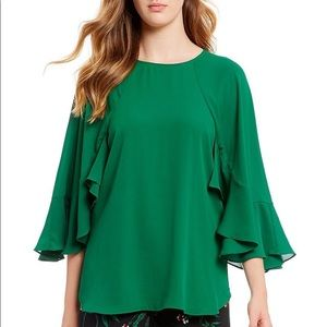 Gibson Latimer Kelly Green Blouse Small